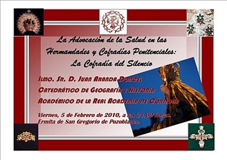 CONFERENCIA DE D. JUAN ARANDA EN SAN GREGORIO