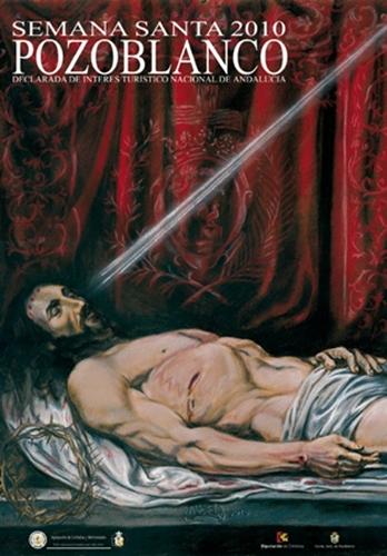 UNA PINTURA DE JESÚS YACENTE CARTEL DE LA SEMANA SANTA