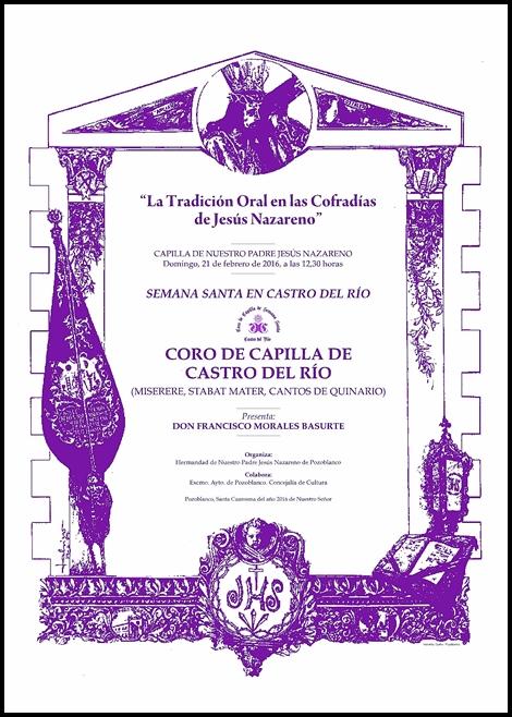 LA TRADICIÓN ORAL EN LAS COFRADÍAS DE JESÚS NAZARENO: SEMANA SANTA DE CASTRO DEL RÍO