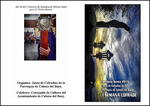 NUESTRA HERMANDAD INVITADA A LA I SEMANA COFRADE DE CABEZA DEL BUEY