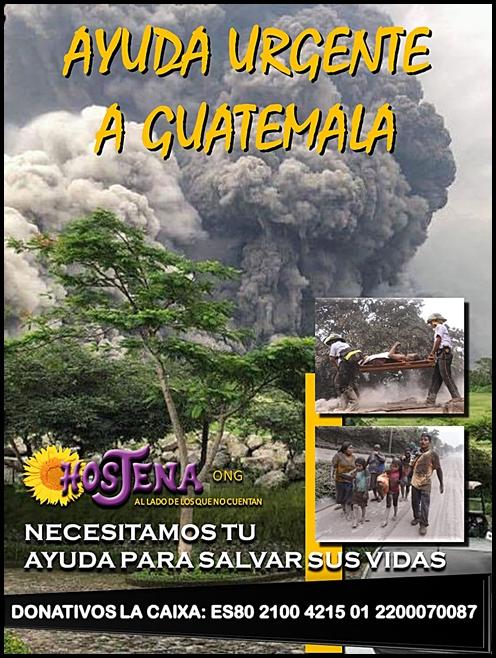 CAMPAÑA URGENTE DE AYUDA A GUATEMALA