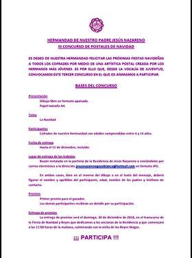 CONVOCADO EL III CONCURSO DE POSTALES DE NAVIDAD