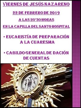 HOY CELEBRAMOS UN NUEVO VIERNES DE JESÚS NAZARENO