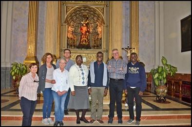 COMPAÑEROS DEL PADRE CÉSAR VISITARON A JESÚS NAZARENO Y NUESTRA HERMANDAD