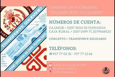 «TRANSPORTE SOLIDARIO»: LA CAMPAÑA DE LAS COFRADÍAS DE POZOBLANCO EN FAVOR DE CÁRITAS