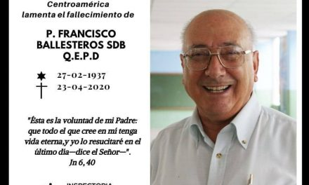 HA FALLECIDO D. FRANCISCO BALLESTEROS, SDB, MISIONERO DE POZOBLANCO