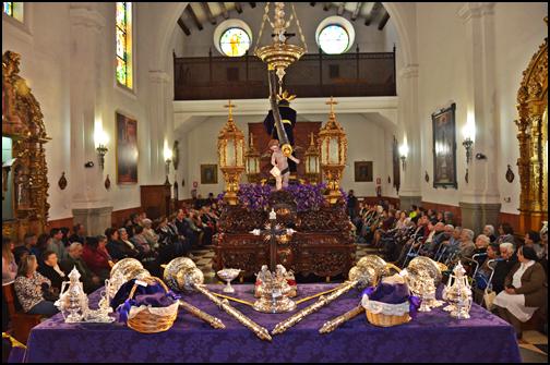 GRUPO DE LECTURA «MANOLO SANTOMÉ». VOLUNTARIADO DE LA HERMANDAD DE NUESTRO PADRE JESÚS NAZARENO. MARTES SANTO. 16´30 HORAS. ORACIÓN CON LOS ANCIANOS EN LA CAPILLA DEL SANTO HOSPITAL