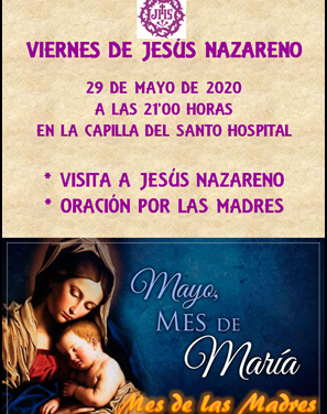 HOY CELEBRAMOS EL VIERNES DE JESÚS NAZARENO