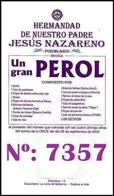 YA TENEMOS GANADOR DE LA RIFA DEL PEROL