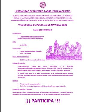 CONVOCADO EL V CONCURSO DE POSTALES DE NAVIDAD