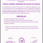 CONVOCADO EL CABILDO GENERAL DE DACIÓN DE CUENTAS