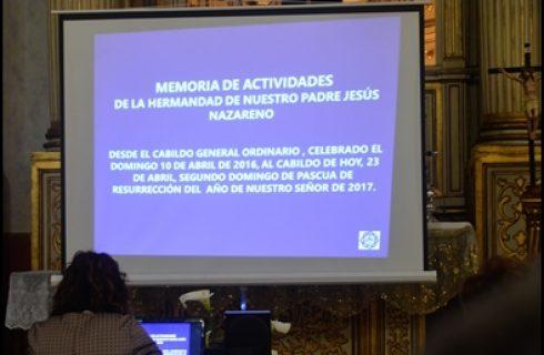 NUESTRA HERMANDAD CELEBRÓ EL CABILDO GENERAL