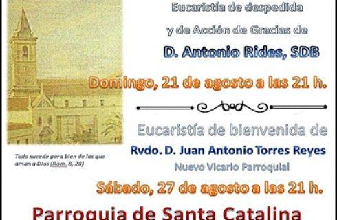 EUCARISTÍA DE ACCIÓN DE GRACIAS POR D. ANTONIO RIDES EN LA PARROQUIA DE SANTA CATALINA